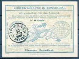 DEUTSCHE BESETZUNG BELGIEN / ANTWERPEN   -  31 VII 1915 ?   -  Ro4  -  30  On  25 Pfennig  -  Reply Coupon Reponse - Occupation 1914-18