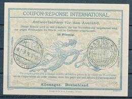DEUTSCHE BESETZUNG BELGIEN / BRÜSSEL   -  18.3.16  -  Ro4  -  25 Pfennig  -  Redeemed:  BASEL  -  Reply Coupon Reponse - Occupation 1914-18
