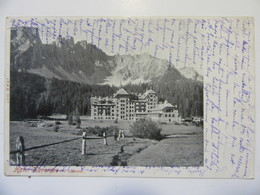 Cpa, Carte Primaire, Trés Belle Vue, Hôtel Karersee Mit Lattemar - Italia
