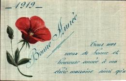 Année Date Millesime 1919 - Fleur Peinte - New Year