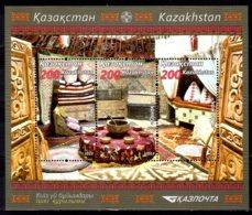 2014 Kazakhstan Decoration Of Yurta MS  MNH** MI  Block58 (842-844) Food, National Traditions, Nomands - Kasachstan