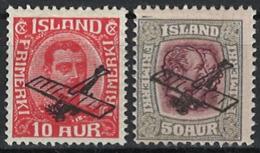 Iceland Island 1928. Air. Mi 122/123, MH - 1918-1944 Unabhängige Verwaltung