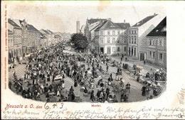 ! Alte Ansichtskarte Neusalz An Der Oder, Markt, 1903 - Polen