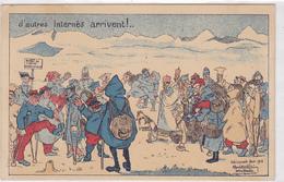 Cpa ( Carte D'internés )-sui-schinznach Bad -illustrateur René Bellain ( Interne Francais 1916 ) - AG Argovia