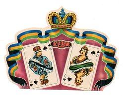 Etiquette De Boîte à Cigares, Lithographiée, Litho  KEBA ( Cartes à Jouer). - Etiquettes