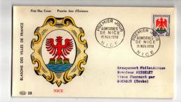 ENV220 - Blason Nice - 1958 - Nice - FDC
