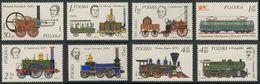 Poland Polska Polen 1976 Mi 2427 /3 YT 2262 /9 ** History Of Railway Locomotive / Geschichte Des Lokomotivenbaus - 1944-.... Republiek