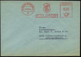 GRIECHISCHE & RÖMISCHE MYTHOLOGIE : 2 HAMBURG-WANDSBEK 1/ IXION/ OTTO HÄFNER/ MASCHINENFABRIK 1964 (28.10.) AFS = Ixion  - Mythologie