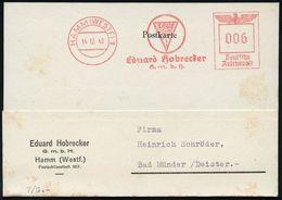 GRIECHISCHE & RÖMISCHE MYTHOLOGIE : HAMM (WESTF) 1/ ZEUS/ Ed.Hobrecker/ GmbH 1940 AFS = Wolke Mit Blitzen Erdwärts (Symb - Mythologie