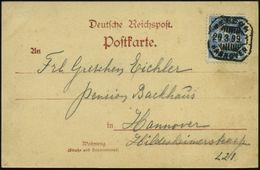 """GRIECHISCHE & RÖMISCHE MYTHOLOGIE : Hannover 1899 (29.3.) 2 1/2 Pf. Privatpost """"Merkur Hannover"""", Blau EF = Schreitender - Mythologie"""