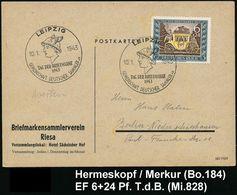 GRIECHISCHE & RÖMISCHE MYTHOLOGIE : LEIPZIG/ TAG DER BRIEFMARKE/ GDS 1943 (10.1.) SSt = Merkur-Kopf Auf Passender EF 6 + - Mythologie