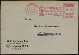 GRIECHISCHE & RÖMISCHE MYTHOLOGIE : LEIPZIG O 27/ Der Atlaswerke/ Genauigkeits-Arbeit/ Ist Deren Stärke 1945 (10.2.) AFS - Mythologie