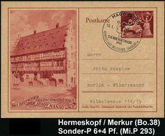 GRIECHISCHE & RÖMISCHE MYTHOLOGIE : MAGDEBURG/ TAG DER BRIEFMARKE/ GDS 1943 (10.1.) SSt = Merkur-Kopf Auf Sonder-P. 6 +  - Mythologie
