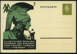 GRIECHISCHE & RÖMISCHE MYTHOLOGIE : München 1932 PP 6 Pf. Ebert, Oliv: AAVM.. AKADEM. ARCHITEKTEN VEREIN 1882.. = Kopf D - Mythologie