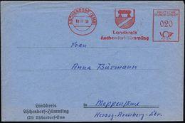 FRÜH- & VORGESCHICHTE / PRÄHISTORIE : ASCHENDORF (EMS)/ Landkreis/ Aschendorf-Hümmling 1956 (8.11.) AFS = Dolmengrab (im - Préhistoire