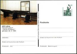 """FRÜH- & VORGESCHICHTE / PRÄHISTORIE : 4972 Löhne 1989 PP 60 Pf. Bavaria , Grün: Prähistor. """"Löhner Einbaum"""" (Heimatmuseu - Préhistoire"""