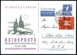 FRÜH- & VORGESCHICHTE / PRÄHISTORIE : (20a) SOLTAU (HAN)/ A/ HEIDEPOSTA 1958 (18.5.) SSt = Megalith-Dolmengrab Auf Motiv - Préhistoire