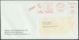 ALT-ÄGYPTEN / ASSUR / BABYLON : 1000 BERLIN 19/ ÄGYPTISCHES/ MUSEUM/ BERLIN/ ..SCHLOSSTR.70 1980 (25.9.) Gesuchter AFS = - Egyptologie
