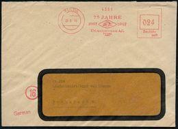 ALT-ÄGYPTEN / ASSUR / BABYLON : FULDA/ 75 JAHRE/ 1867 1942/ EMAILLIRWERK AG. 1946 (26.6.) Aptierter Jubil.-AFS = 2 Pyram - Egyptologie