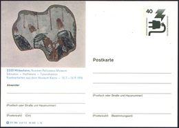 ALT-ÄGYPTEN / ASSUR / BABYLON : 3200 Hildesheim 1976 Gesuchte BiP 40 Pf. Unfall, Grün : Roemer-Pelizaeus-Museum/Echnaton - Egyptologie