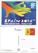 ENTERO POSTAL BALONCESTO BASKETBALL SPAIN 2014 FIBA WORLD CUP DEPORTE - Baloncesto