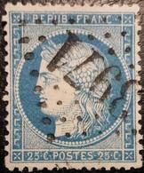 FRANCE Y&T N°60Ca Cérès 25c Bleu Foncé. Oblitéré Losange G.C N°3971 Tonnerre - 1871-1875 Ceres