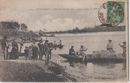 CPA Bergerac - Pêcherie Du Barrage - Départ Pour La Pêche (très Belle Scène) - Bergerac