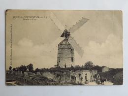 C. P. A. : 49 DOUE LA FONTAINE : Moulin à Vent, Attelage, Animé, En 1914 - Doue La Fontaine