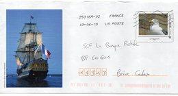 Entier Postal PAP Départemental Personnalisé Seine Maritime Vieux Gréments Bateau Frégate 3 Mats Etoile Du Roy - Entiers Postaux