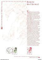 """"""" HOROSCOPE CHINOIS / ANNEE DU CHEVAL """" Sur Document Philatélique Officiel De 2014. N° YT 4835. Parfait état DPO - 2010-...."""