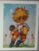 Petit Mini Calendrier Poche  Agenda 1982 Illustration Michel Thomas Poulbot Rugby Fleuriste Interflora La Courneuve - Calendriers