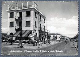 °°° Cartolina - Sottomarina Albergo Stella D'italia E Viale Trieste Nuova °°° - Venezia