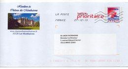 Entier Postal PAP Repiqué Meuse Hostellerie Du Château Des Monthairons - Prêts-à-poster: Repiquages Privés