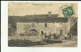 70 - Haute Saone - Montcourt - La Place - Café - Belle Animation - - Francia