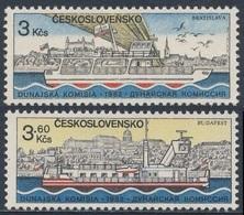 "Tschechoslowakei Czechoslovakia 1982 Mi 2679 /0 ** Ferry ""Kamzik"" Bratislava Harbour + Tug ""TR 100"" In Budapest - Ongebruikt"