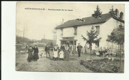 70 - Haute Saone - Genevreuille - Restaurant De La Gare - Miltaires à La Buvette - Beau Plan - - Francia