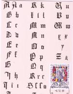 PRINTING  -  LIECHTENSTEIN - 1999  GUTENBERG  MAXI CARD - Sonstige