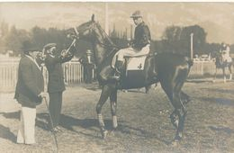 Carte-photo Jockey Cheval De Course Hippique Sport Hippodrome Horse Tenue Pari - Sports