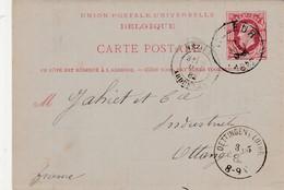 Lettre Postale 10 C Léoplod ,Charbonnage Horloz Tilleur Vers Ottange ( Oettingen I Lothr ) Passage Par Mézières - Poststempel