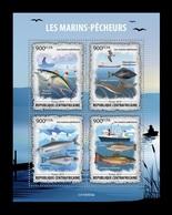 CAR 2019 Mih. 9343/46 Fauna. Fishing. Ships. Fishes MNH ** - Zentralafrik. Republik