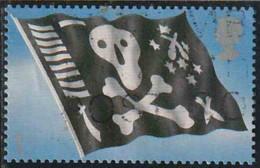 GB 2001 Yv. N°2289 - Pavillon Noir Jolly Roger - Auto-adhésif - Oblitéré - Gebraucht