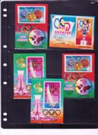 NORTH KOREA - 1976 - OLYMPICS  3D SOUVENIR SHEETS X 5  MINT NEVER HINGED - Korea, North