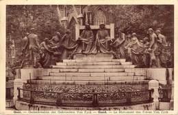 Gent Gand Gedenkteken Der Gebroeders Van Eyck  Le Monument Des Freres Van Eyck    Legerpost   Barry 3492 - Gent