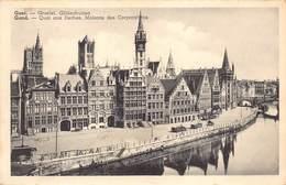 Gent Gand   Graslei , Gildenhuizen Militiare Dienst Legerpost    Barry 3498 - Gent