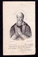 """Incisione, Santino: S. FRANCESCO DI SALES - XIX SEC. - RB - Mm.: 84 X 154 - RI-INC013"""" - Religion & Esotericism"""