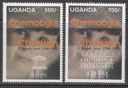 1997 Uganda Chernobyl Nuclear Disaster Complete Set Of 2 MNH - Oeganda (1962-...)