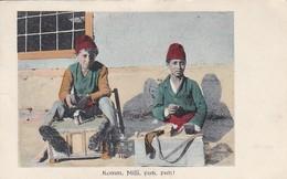 AK Komm, Missi, Putz, Putz!- Schuhputzer - Südosteuropa Türkei - Feldpost Kgl. Pr. Armee-Fernspr.-Abt. 22 - 1918 (45615) - Europa