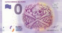 France - Billet Touristique / Souvenir 0 €uro - 2016 / CATACOMBES DE PARIS . - Essais Privés / Non-officiels