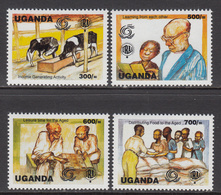 1999 Uganda Year Of The Elderly Agriculture Education Complete Set Of 4 MNH - Uganda (1962-...)