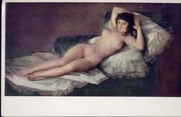 Museo Del Prado - Goya - Maja Desnuda - La Maja Nue - The Nude Maja - Formato Grande Viaggiata Mancante Di Affrancatura - Quadri, Vetrate E Statue